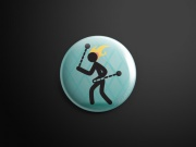 Pin badge Blu Fire